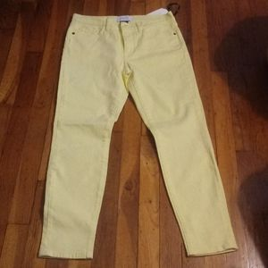 NWT Current Elliot 27 Jeans acid yellow stretch